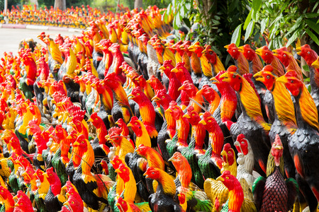 king of thailand: Chicken statue of King Naresuan of Thailand.
