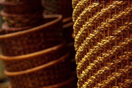 trabajo manual: Oficios handwork del jacinto de agua.