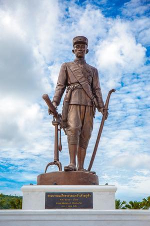 RATCHAPAK PARK, HUA HIN ,THAILAND-OCTOBER 11,2015 :King Rama 4 Phra Chom Klao Chao Yu Hua Rattanakosin.
