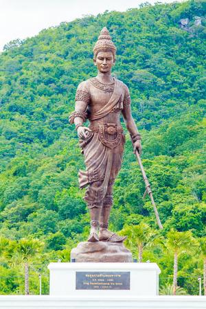 king ramkhamhaeng: RATCHAPAK PARK, HUA HIN ,THAILAND-OCTOBER 11,2015 :King Ramkhamhaeng Sukhothai