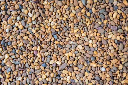 gravel: Colorful small pebbles or stone in garden. Stock Photo