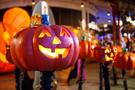 jack o  lantern: Scary Jack O Lantern Halloween Pumpkin.