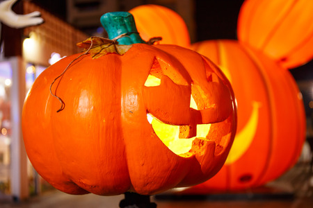 jack o' lantern: Scary Jack O Lantern halloween pumpkin.