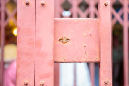 key hole: Vintage key hole of metal door.