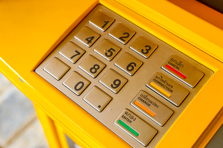 automated teller machine: Keypad of an automated teller machine