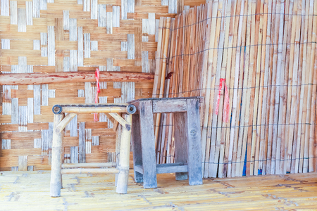 locality: inside of Bamboo hut of Thailand.