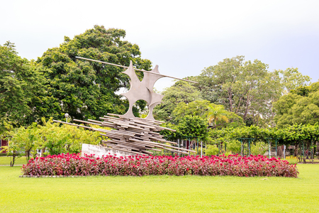 Bangkok, Thailand. - August 20, 2016 : Art Statue at Jatujak public park or garden of Bangkok Thailand.