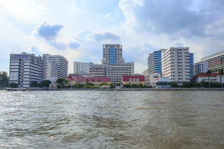 Siriraj Hospital on the Chao Phraya River, one of the oldest and the most famous hospital in Thailand. Stock Photo