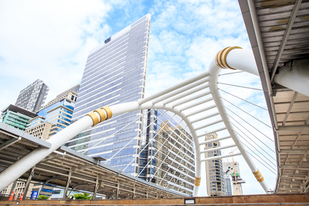 Bangkok, Thailand. - May 21, 2016 : interchange skywalk to transit between Sky Transit (BTS) and Bus Rapid Transit (BRT) at Chong Nonsi, Bangkok, Thailand.
