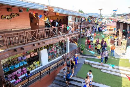 HuaHin, Prachuap Khiri Khan Province, Thailand - 7 December 2015 : PlearnWan Vintage Market.