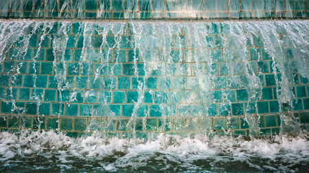 shutter: Abstract image of water from fountain with high shutter speed. Stock Photo