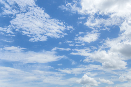 Clouds on the blue sky for background usage. Stock Photo