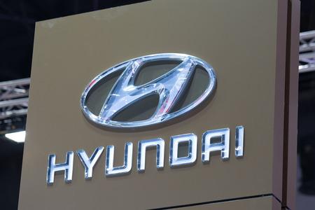Bangkok, Thailand. - August 27, 2017 : Hyundai car logo at motor show.