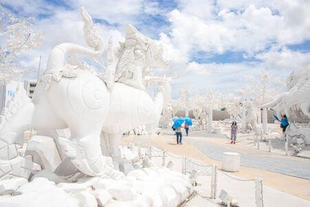 "Pattaya, Chonburi, Thailand - September 1, 2016 : ""Frost, Magical Ice of Siam"" Tourist attraction at Pattaya Chonburi Thailand."
