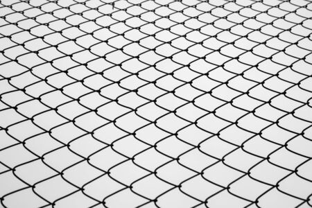 Abstract image of selective focus at iron fence with sky in black and white tone. Stock fotó