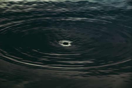 Water ripple hole in dark or black tone. Archivio Fotografico