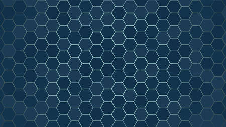 Honeycomb or Honey Grid tile random background or Hexagonal cell texture. color black dark or gray or grey with difference border space.