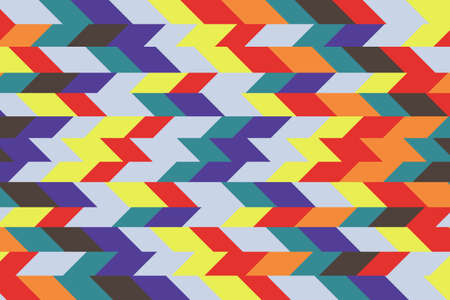 Abstract image of random cut line colorful color for background.