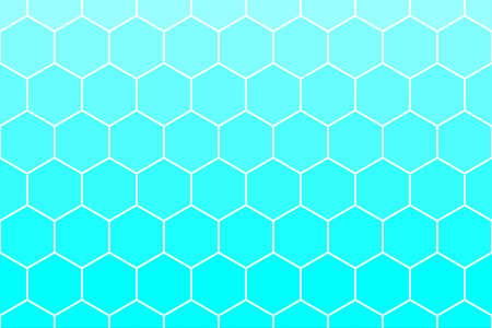 Honeycomb or Honey Grid tiled background of bright blue azure color. or cell texture. for use as background. Archivio Fotografico