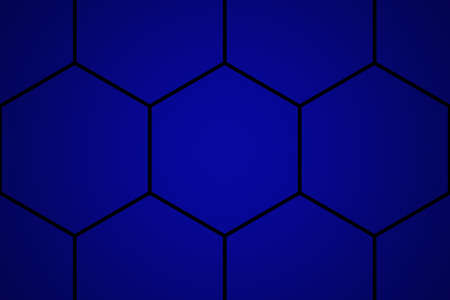 Big honey or honeycomb in dark blue for technology background textured.
