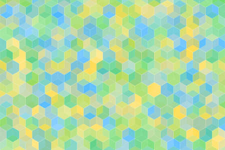 Cube square box or Honeycomb Grid tiled with random colorful color for background.