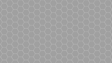 Gray or Grey color tone of honey or Honeycomb Grid tiled background or Hexagonal cell texture.