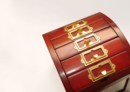 file cabinet with copy space not isolated Stock Photo