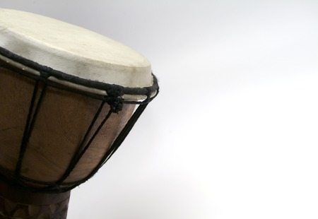 djembe drum with white copy space