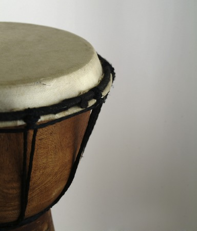 djembe drum with copy space on right
