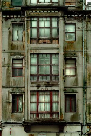 old uninhabitated building trasmiting fear and anxiety