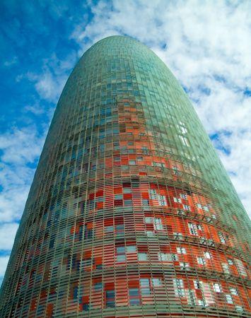 agbar tower, a modern building in Barcelona