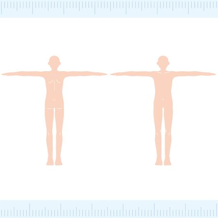Male Medical Beauty Naked Nude Whole Body Front/Back Illustration