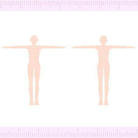Female Medical Beauty Naked Nude Whole Body FrontBack