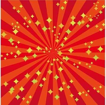 Red Radial Glitter Background Illustration