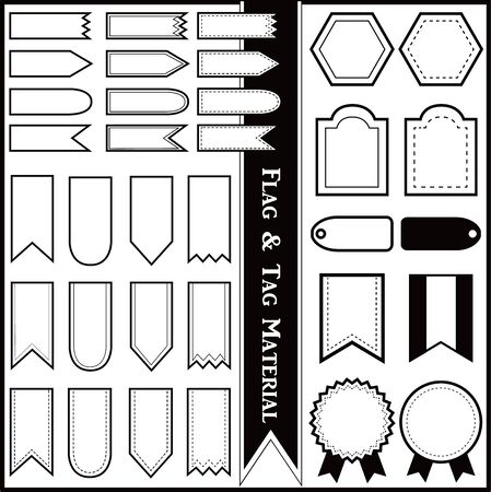 Flag & Tag Material (Black and White Monochromatic)