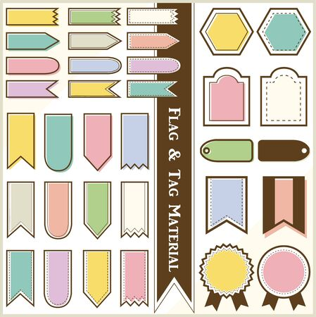 Flag & Tag Material (Color) Illustration