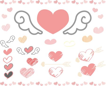 Hand-painted heart set