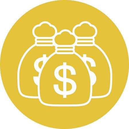 Dollar bag money image Illustration