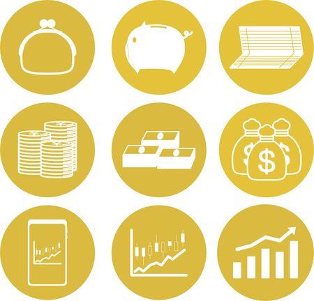 Savings Asset Management Image Icon Set
