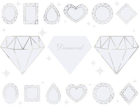 Diamonds & Gems Glitter Set Illustration