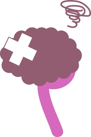 Simple Unhealthy Brain Illustration OrganMedical