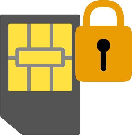 SIM Lock Stock Illustratie