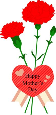 Mother's Day Carnation and Message 写真素材 - 141956934