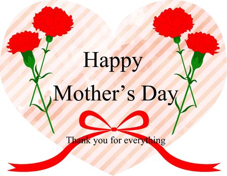 Mother's Day Carnation and Message 写真素材 - 141956936