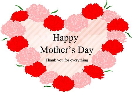 Mother's Day Carnation and Message