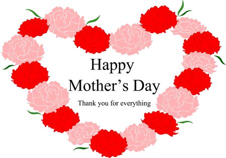 Mother's Day Carnation and Message 写真素材 - 141956941