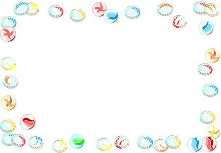 Glitter Marbles & Ojiki Frames