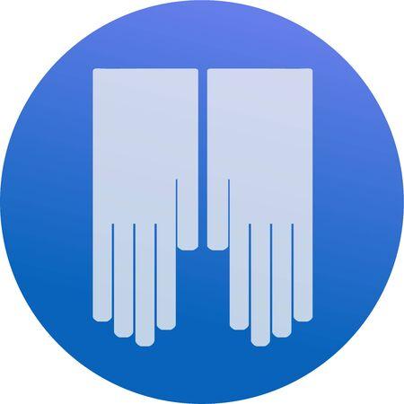 Icon gloves Illustration