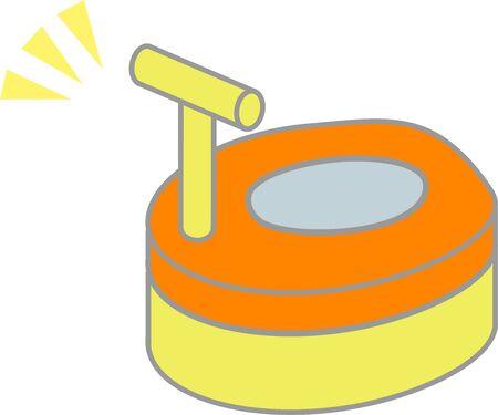 Round and auxiliary toilet seat Illusztráció