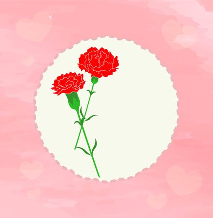 Mother's Day Carnation and Message 写真素材 - 146262683